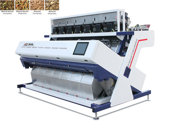 Belt Conveyor Feeding Cashew Color Sorter , Stable Advanced Sorting Machines